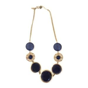 Navy blue statement necklace